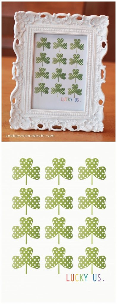 Lucky Us Printable-- St. Patrick's Day