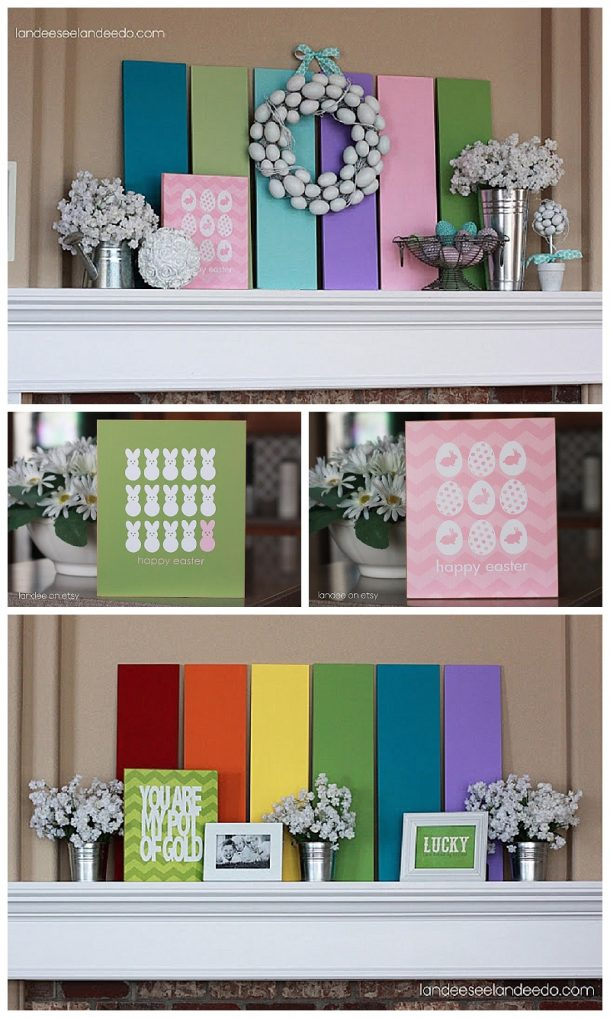 Spring Decor - Ideas for Cute St. Patrick's Day and Easter Decorations - DIY ideas and Tutorials