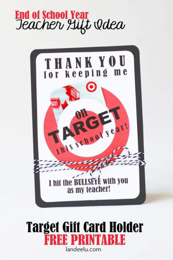 Teacher Appreciation Gift Idea... every teacher LOVES Target! Cute way to give a gift card. #teacherappreciation #teachergift #targetgiftcard #easyteachergift
