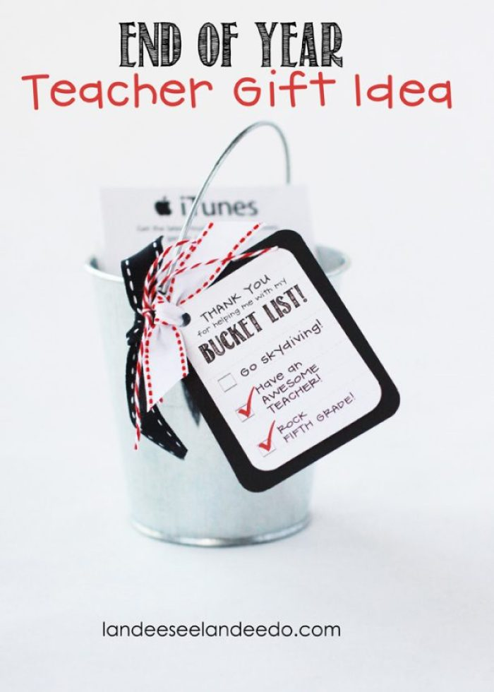 Teacher Appreciation Gift Idea: Bucket List via Landeelu