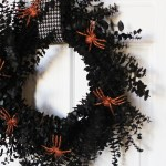 Spray Painted Halloween Wreath