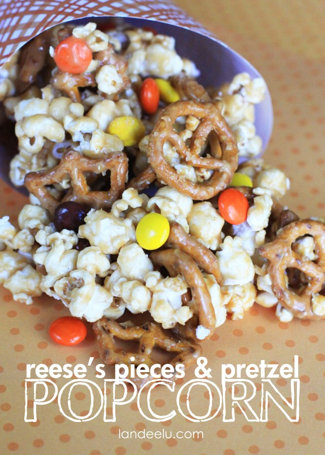 Reese's Pieces and Pretzel Popcorn Recipe