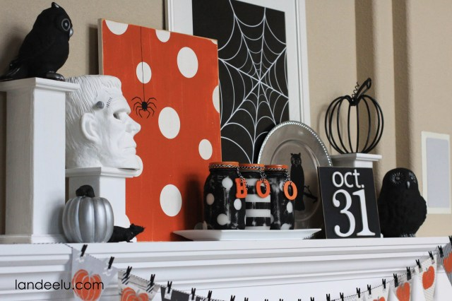halloween mantel decoration 1