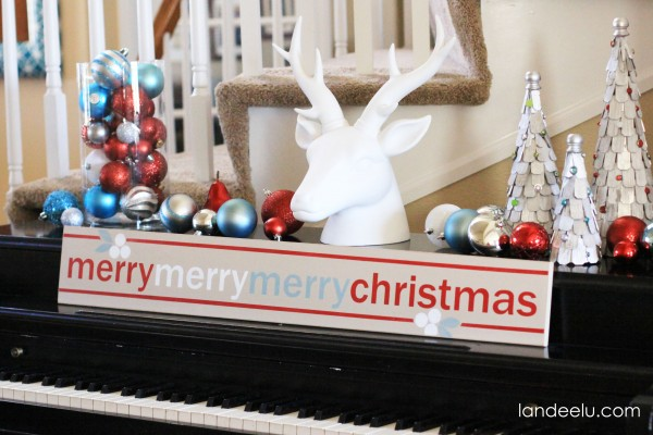 Merry Christmas Piano Decor