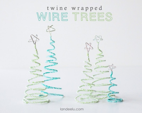 Twine Wrapped Wire Trees Landee