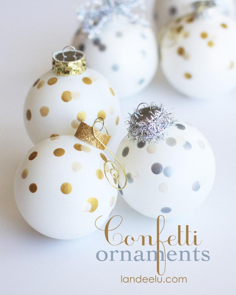 Confetti Ornaments