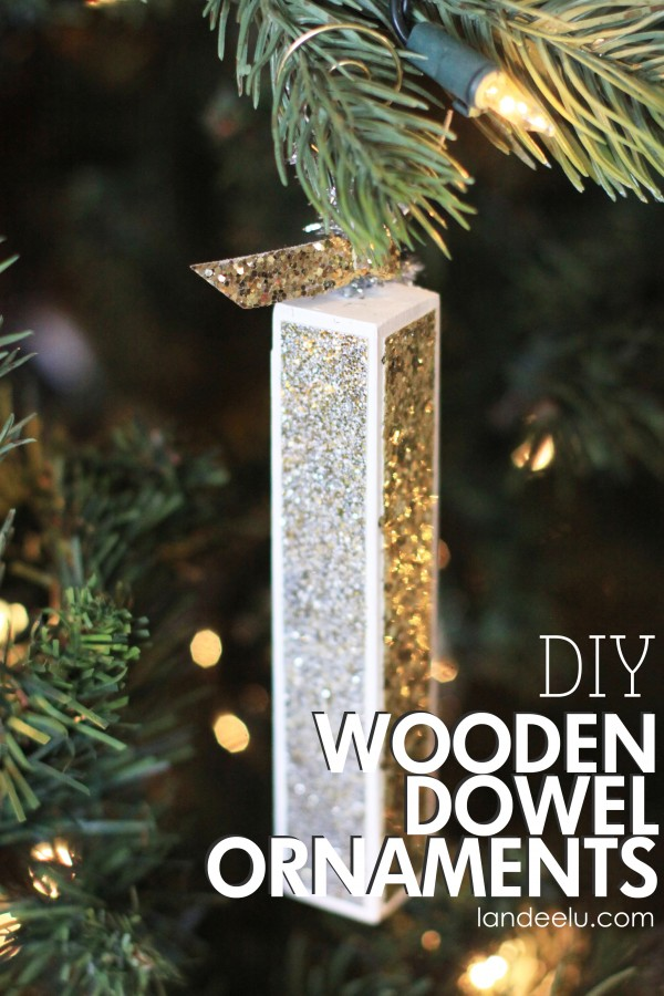 DIY Wood Dowel Ornaments