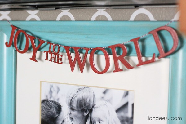 Joy To the World Chipboard Banner