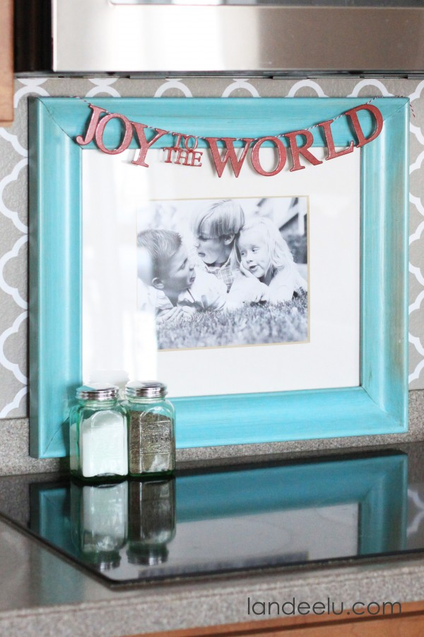 Joy To the World Chipboard Frame Banner