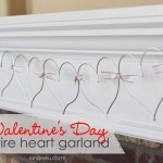 Easy Valentine's Day Garland: Wire Hearts