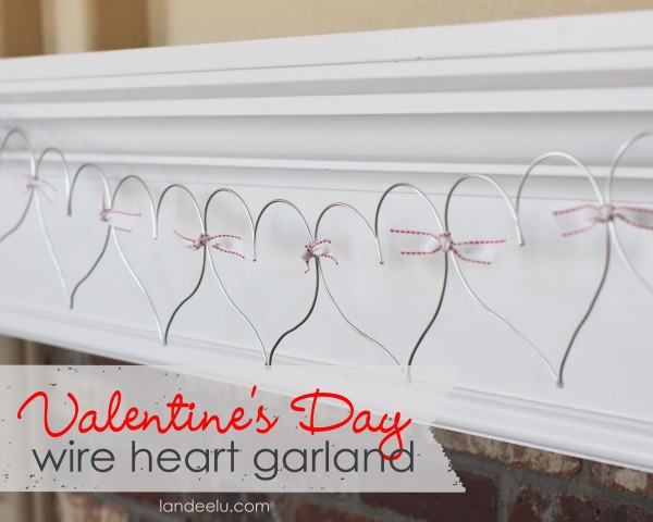 Easy Valentine's Day Wire Heart Garland DIY