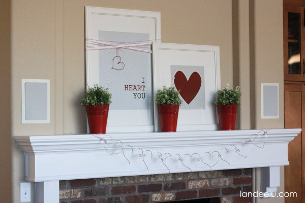 Valentine's Day Mantel Decor