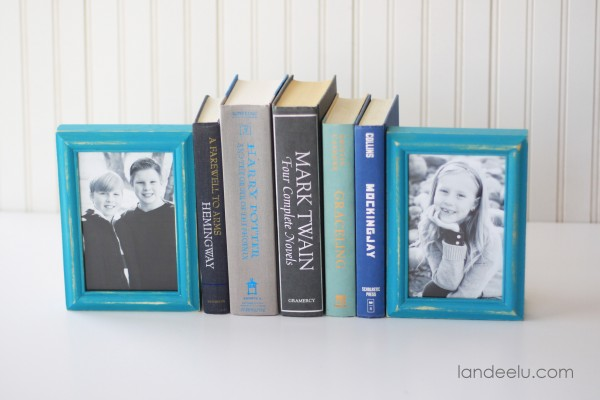 DIY Picture Frame Bookends--so cute