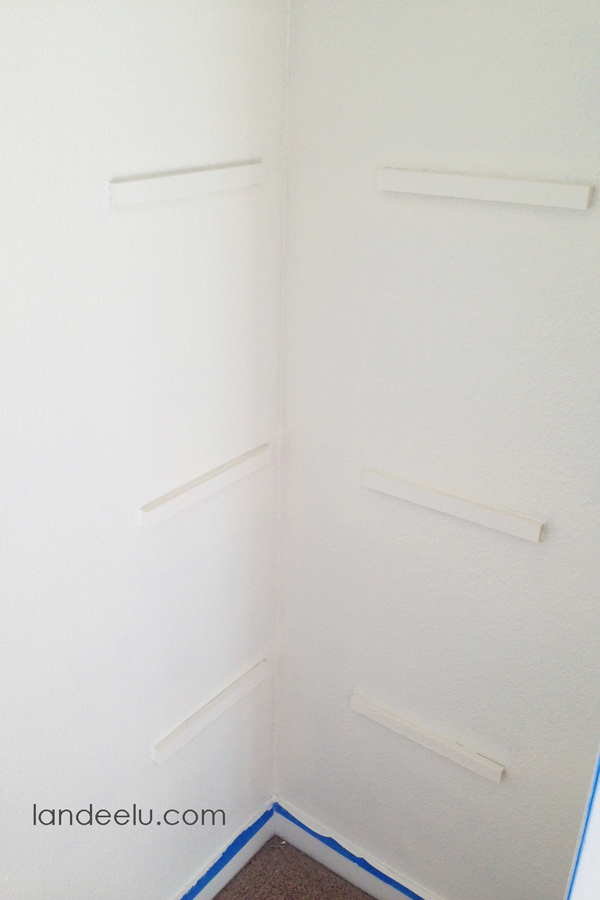Closet Makeover--adding shelving to dead space in closet