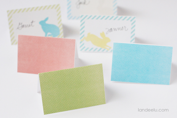 Easter Place Cards free printable