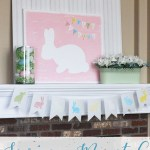 Easter and Spring Mantel Idea