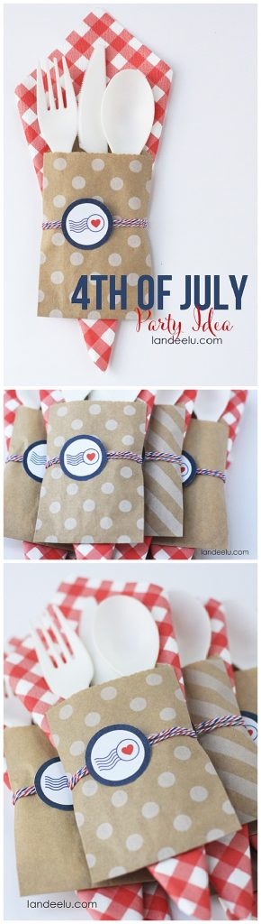 Patriotic DIY Utensil Holders Tutorial | Landeelu
