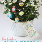 Flower Craft: Button Bouquet