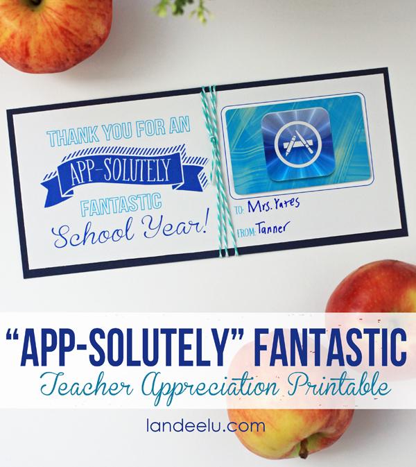 Teacher Appreciation Gift Ideas: App-solutely Fantastic