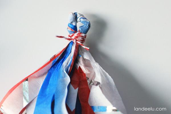 4th of July Tissue Paper Tassel Garland from landeelu