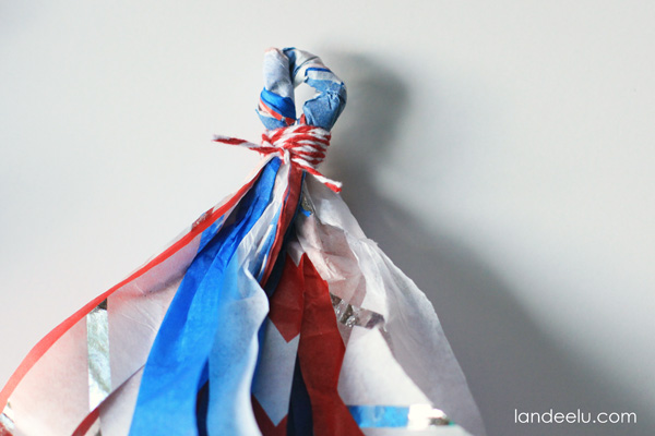 4th of July Tissue Paper Tassel Garland from landeelu
