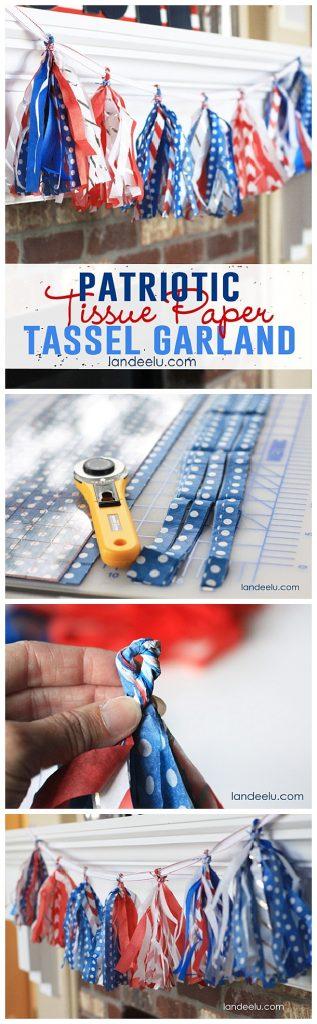 Tissue paper tassel tutorial - Join Landee S Newsletter