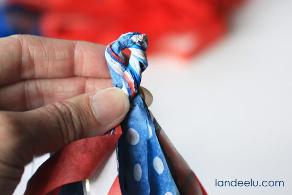 Tissue Paper Tassel Garland from landeelu