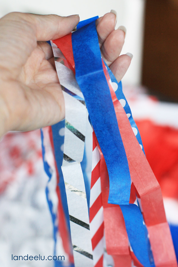 Tissue Paper Tassel Garland-tutorial