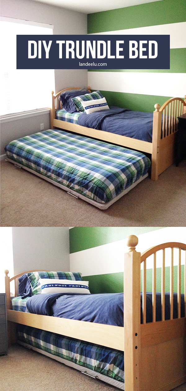 DIY Trundle Bed: A Furniture Hack from landeelu.com #diytrundlebed #kidsfurniturediy #diyfurniture #diybed