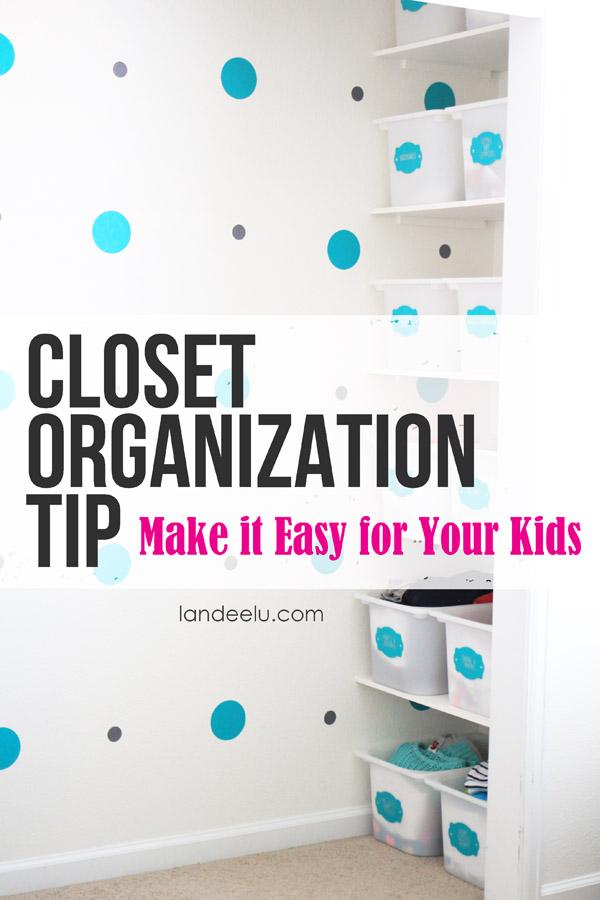 Closet Organization Tip to help keep kids organized on their own! via Landeelu - Closet Organization Ideas and Space Saving Hacks