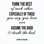 Sunday Encouragement: Think the Best {8.24.14}