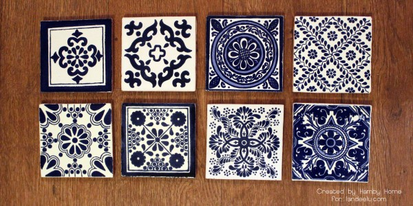 Blue and White Mexican Tiles