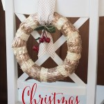 Beautiful and inexpensive way to dress up your chair backs this Christmas! Love the gold!