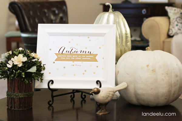 Free Autumn Printable from landeelu.com
