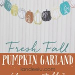 Fresh Fall Pumpkin Garland ... a free printable from landeelu.com!