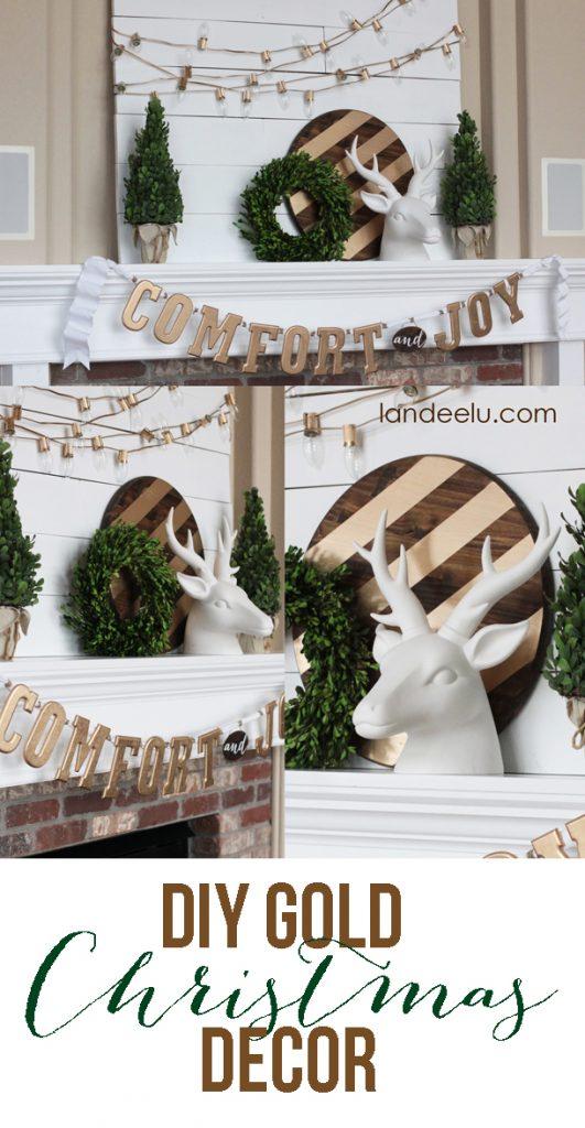 DIY GOLD Christmas Decor  |  landeelu.com
