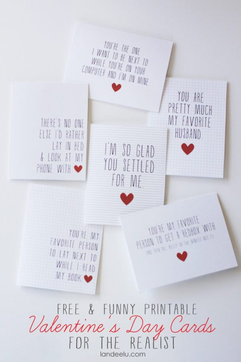Funny Printable Valentine's Day Cards sm