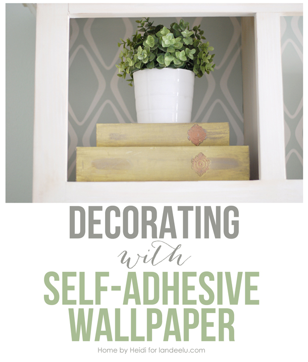 Decorating with Self-Adhesive Wallpaper | landeelu.com Such an easy way to spruce up any space!