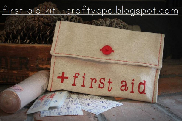 Crafty CPA sew first aid kit