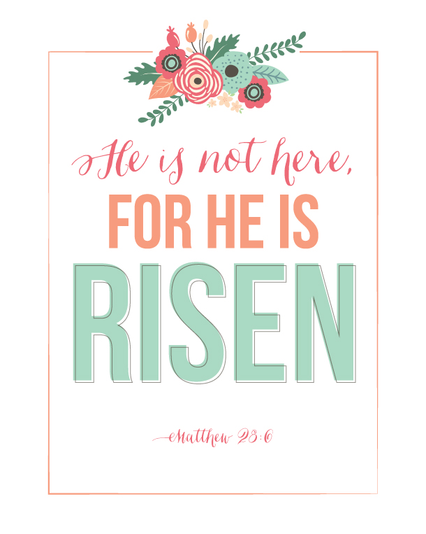 He Is Risen Easter Printable | landeelu.com