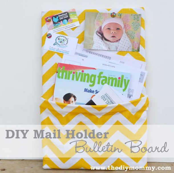 The DIY Mommy mail holder bulletin board