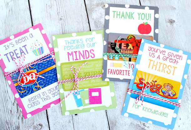 crazy little projects teacher appreciation gift card holders