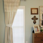 DIY Drop Cloth and Lace No Sew Curtains