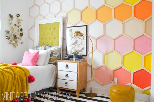 Honeycomb Hexagon Wall @ Vintage Revivals-2[2] for landeelu dot com roundup