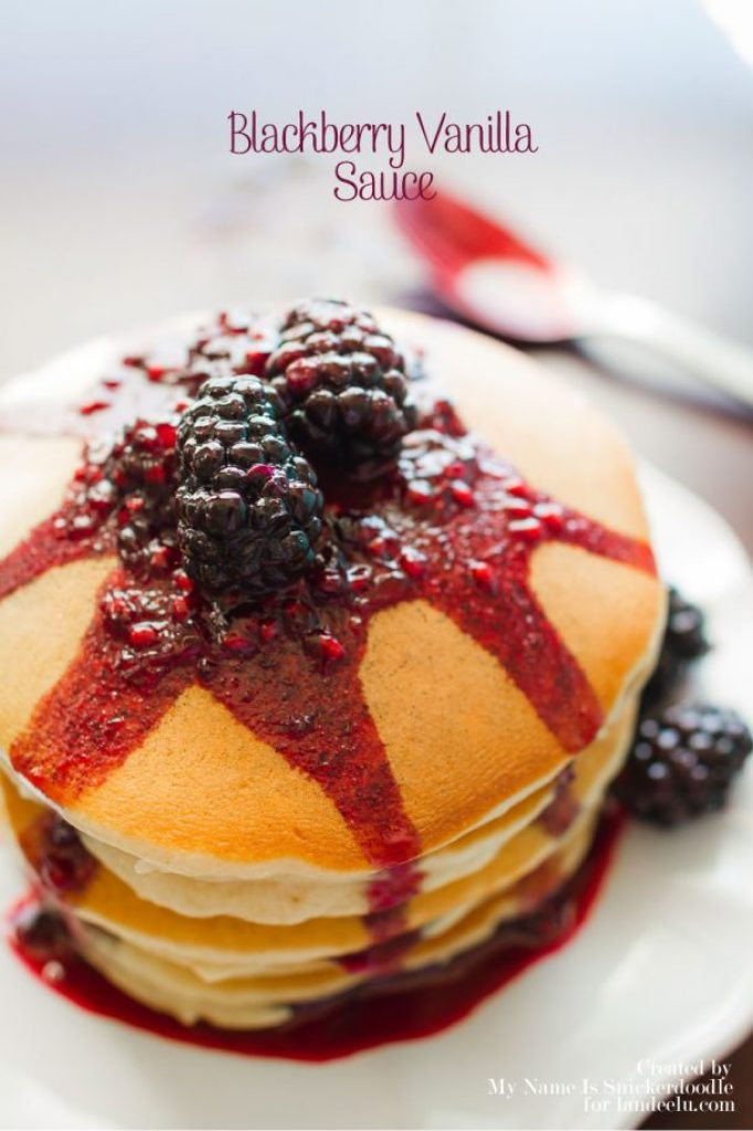 Blackberry Vanilla Sauce Recipe | Landeelu - You could definitely substitute the blackberries for raspberries and you most certainly could serve this Blackberry Vanilla Sauce over ice cream! Ooohh, or over a yogurt parfait! Or waffles or angel food cake!