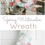 DIY Spring Watercolor Wreath