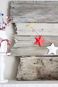 4th of july mini star garland 10