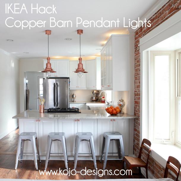Copper Lights IKEA Hack by kojo designs