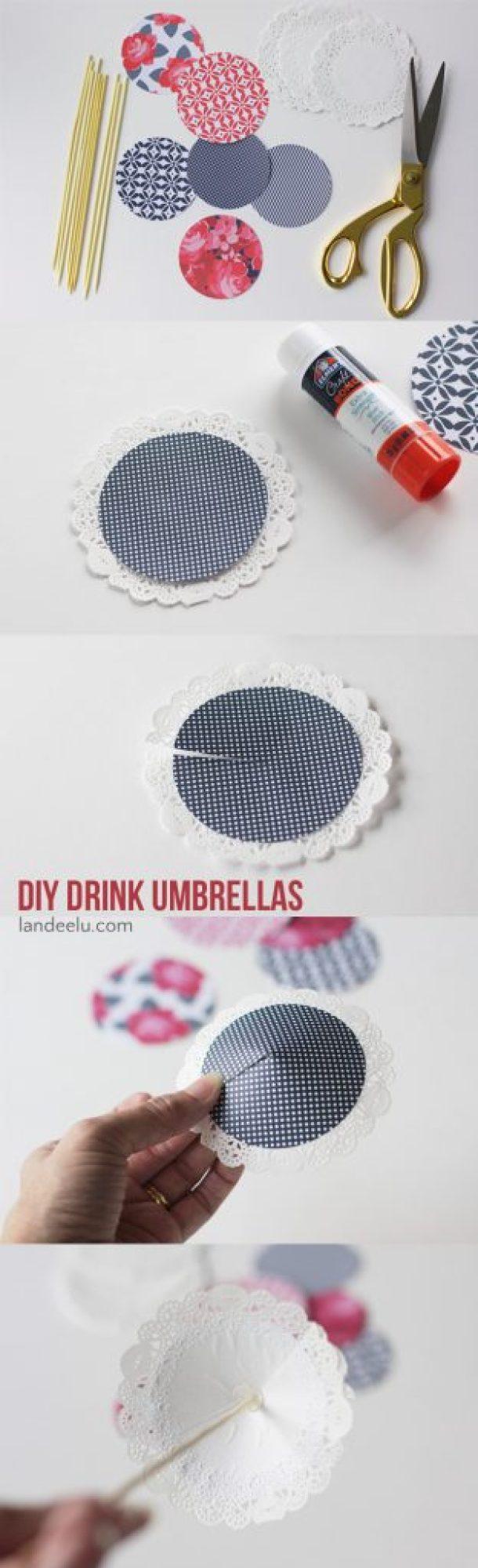 Patriotic DIY Drink Umbrellas    landeelu.com  Spruce up your 4th of July celebrations with these adorable drink umbrellas!