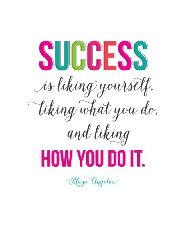 Sunday Encouragement Success Quote By Maya Angelou